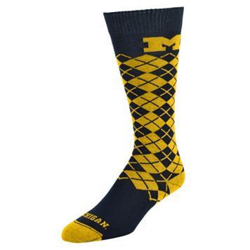 Men's Mojo Michigan Wolverines Argyle Socks