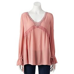 Women's LC Lauren Conrad Lace Trim Top