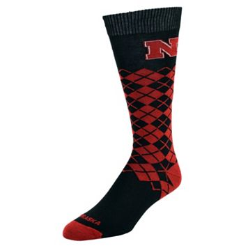 Women's Mojo Nebraska Cornhuskers Argyle Socks
