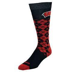 Women's Mojo Wisconsin Badgers Argyle Socks