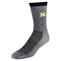 Men's Mojo Michigan Wolverines Hiker Crew Socks