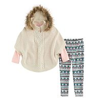Baby Girl Little Lass Poncho Sweater,