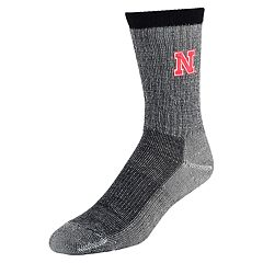 Men's Mojo Nebraska Cornhuskers Hiker Crew Socks