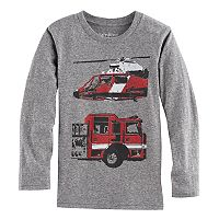 Boys 4-10 Jumping Beans® Fire Truck & Helicopter Long Sleeve Graphic Tee