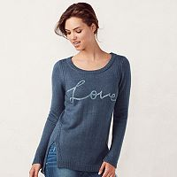 Women's LC Lauren Conrad High-Low Crewneck Sweater