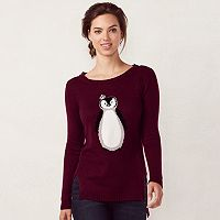 Women's LC Lauren Conrad High-Low Crewneck Sweater