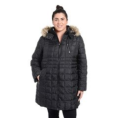 Plus Size Fleet Street Faux-Down Quilted Jacket
