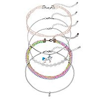 Mudd® Star, Unicorn, Lace & Rainbow Choker Necklace Set