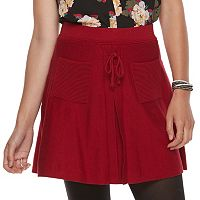 Juniors' Candies® A-Line Lace-Up Skirt