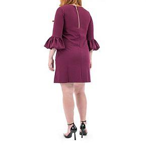 Women's Nina Leonard Balloon-Sleeve Shift Dress