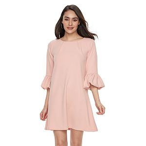Women's Nina Leonard Balloon-Sleeve Shift Dress