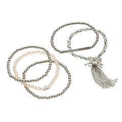 Mudd® Beaded Unicorn Stretch Bracelet Set
