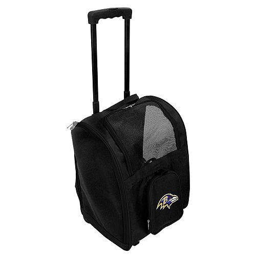 Mojo Baltimore Ravens Wheeled Pet Carrier