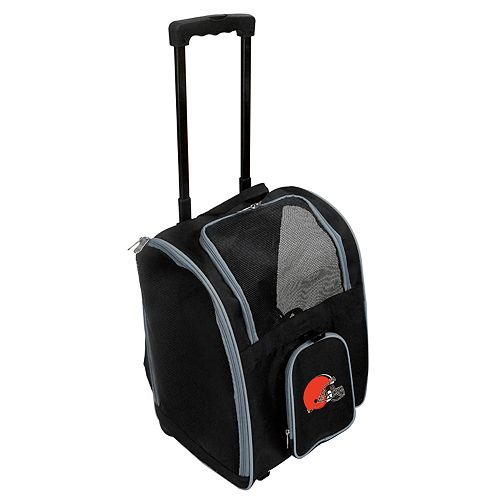Mojo Cleveland Browns Wheeled Pet Carrier