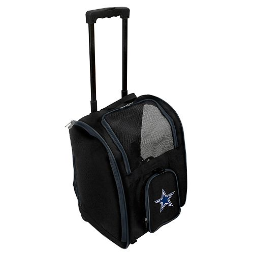 Mojo Dallas Cowboys Wheeled Pet Carrier