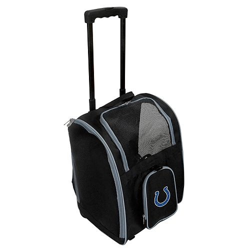Mojo Indianapolis Colts Wheeled Pet Carrier