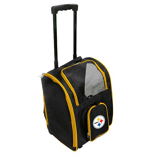 Mojo Pittsburgh Steelers Wheeled Pet Carrier