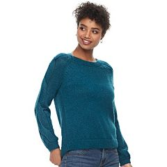 Women's Apt. 9® Cable-Knit Sleeve Sweater