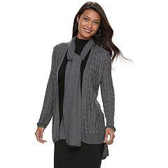 Women's Apt. 9® Scarf & Lurex Open-Front Cardigan