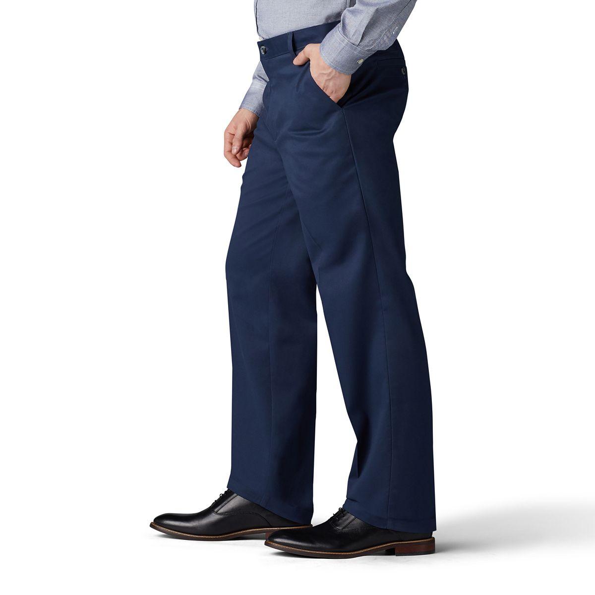 Men's Lee® Total Freedom Straight-Fit Comfort Stretch Pants Walnut 5Bmqn