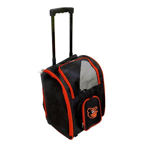 Mojo Baltimore Orioles Wheeled Pet Carrier