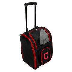 Mojo Cleveland Indians Wheeled Pet Carrier