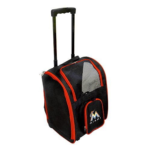 Mojo Miami Marlins Wheeled Pet Carrier