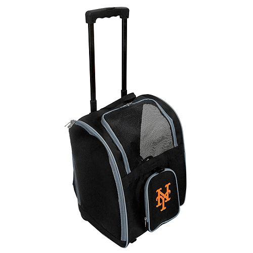 Mojo New York Mets Wheeled Pet Carrier