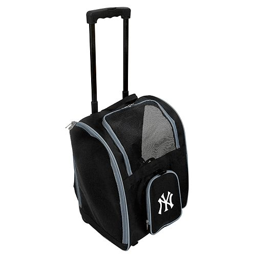 Mojo New York Yankees Wheeled Pet Carrier