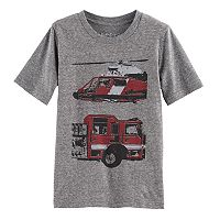 Boys 4-10 Jumping Beans® Fire Truck & Helicopter Graphic Tee