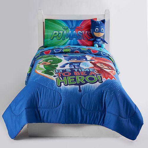 "PJ Masks ""It's Hero Time"" Twin / Full Reversible Comforter"