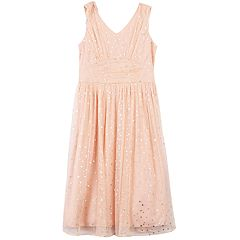 Girls 7-16 & Plus Size Speechless Foil Star Shirred Dress