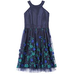 Girls 7-16 Speechless Embroidered Applique Floral Skirt Dress
