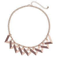 Glittery Triangle Statement Necklace