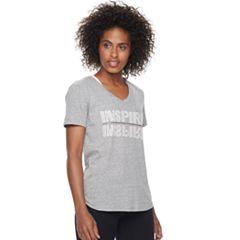 Women's Tek Gear® Short Sleeve V-Neck Graphic Tee