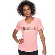 Women's Tek Gear® Short Sleeve V-Neck Graphic Tee