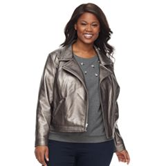Women's Plus Apt. 9® Zipper Moto Jacket