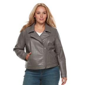 Women's Plus Apt. 9® Zipper Moto Jacket