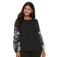 Plus Size Apt. 9® Balloon Sleeve Peasant Top