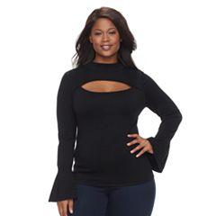 Plus Size Jennifer Lopez Bell Sleeve Sweater