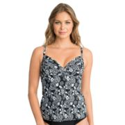 Women's Upstream Floral D-Cup Tankini Top