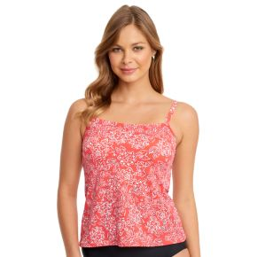 Women's Upstream Floral High-Neck Tankini Top