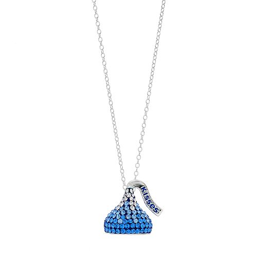 Sterling Silver Ombre Crystal Hershey's Kiss Pendant