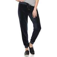 Women's Juicy Couture Supersoft Velour Midrise Jogger Pants
