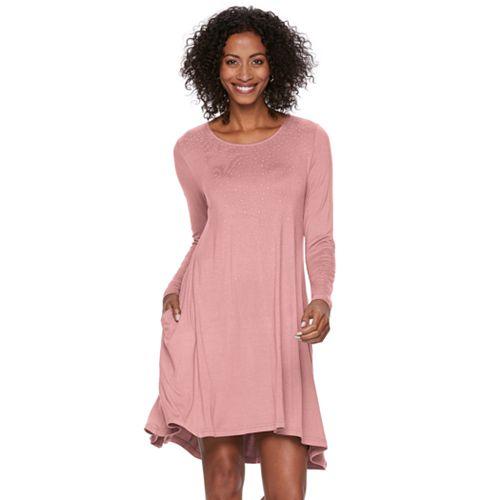 Women's Nina Leonard Embellished Swing Dress