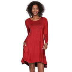Women's Nina Leonard Embellished Swing Dress