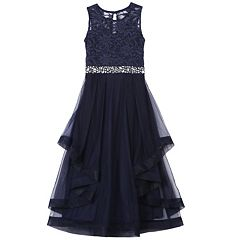Girls 7-16 Speechless Tiered Ruffle Lace Dress