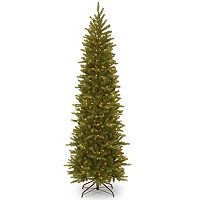 National Tree Company 7.5-ft. Pre-Lit Grande Fir Slim Artificial Christmas Tree