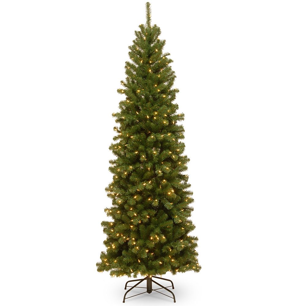 national tree company 75 ft pre lit north valley spruce slim artificial christmas tree - Christmas Tree Slim