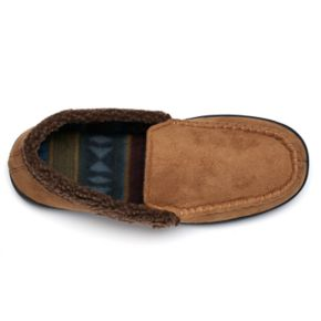Men's Urban Pipeline Faux-Fur Trim Moccasin Slipper